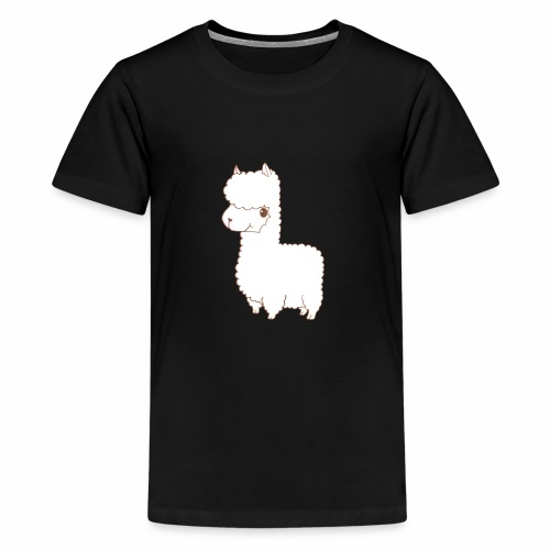 Alpaca scribble - Teenager Premium T-Shirt