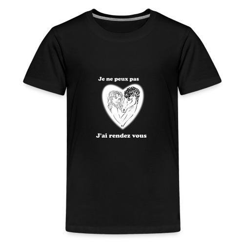 cheval j'peux pas cheval passion cœur tendre FS - T-shirt Premium Ado
