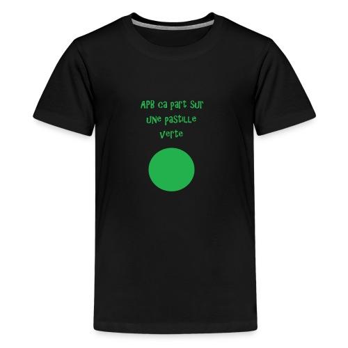 Pastille verte - T-shirt Premium Ado
