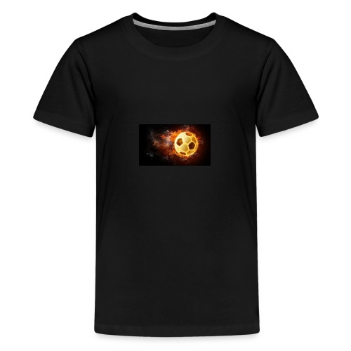 Fussfall Ball Grafik - Teenager Premium T-Shirt