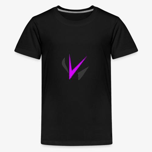 Vinper Logo Rose/Noir - T-shirt Premium Ado