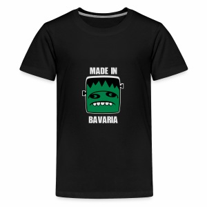 Fonster weiß made in Bavaria - Teenager Premium T-Shirt