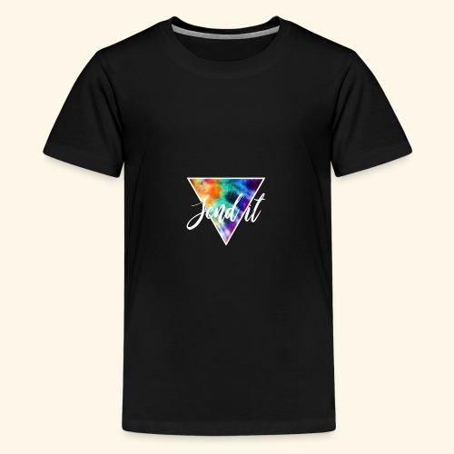 Send It Design, Polygon und Schrift weiß - Teenager Premium T-Shirt