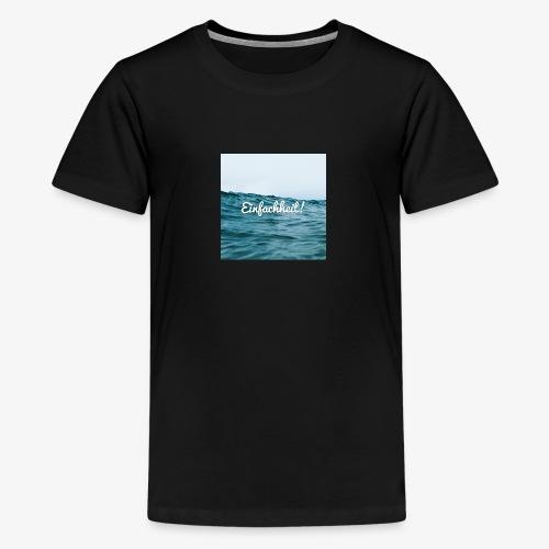 Einfachheit Meer - Teenager Premium T-Shirt