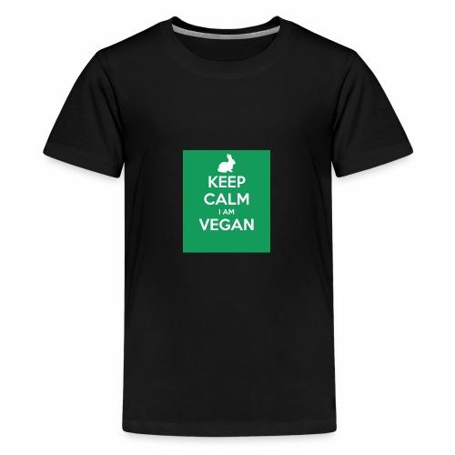 keep calm i am vegan 3 - T-shirt Premium Ado