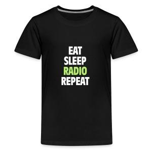 Eat Sleep Radio Repeat T-shirt - Premium-T-shirt tonåring