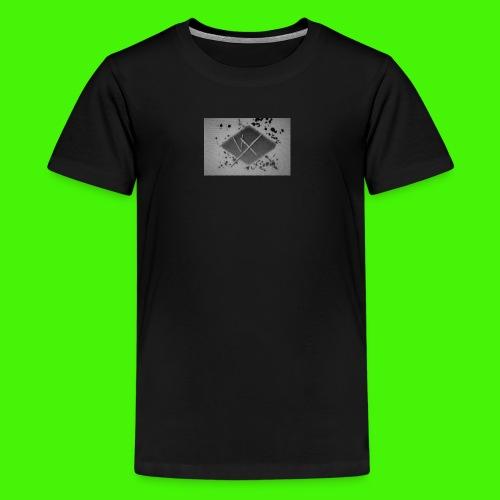 white,gray and black vX logo - Teenage Premium T-Shirt