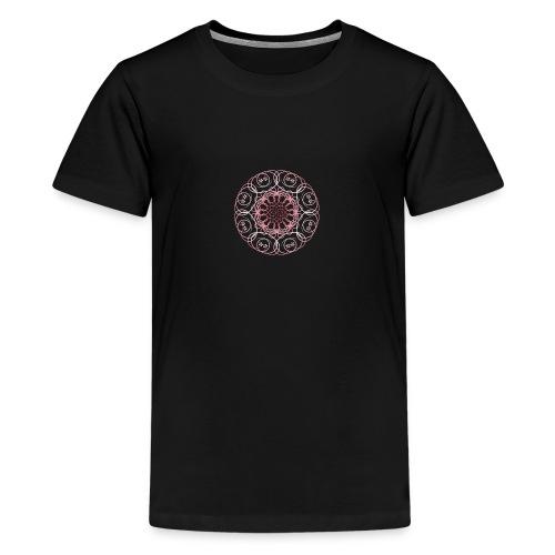 mandala floreale - Maglietta Premium per ragazzi