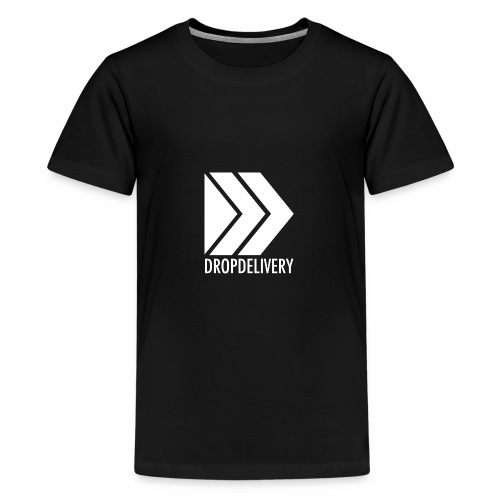 DropDelivery Main Collection - White - Teenager Premium T-Shirt