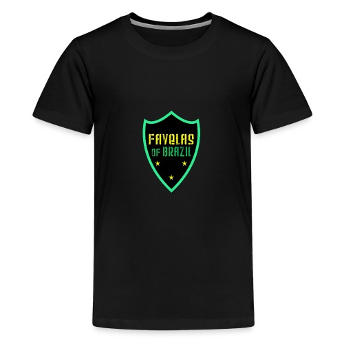 FAVELAS OF BRAZIL NOIR VERT DESIGN - T-shirt Premium Ado