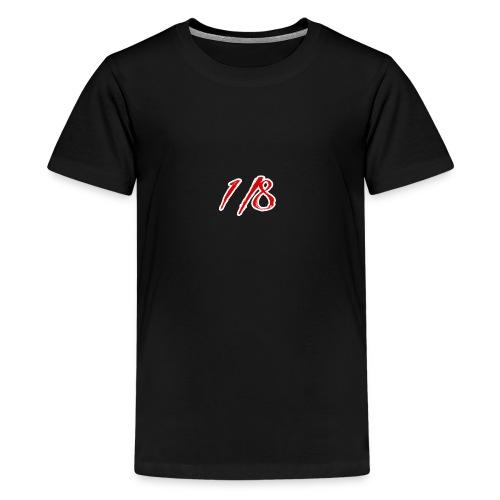 Red And White 1/8 logo Tee - Teenage Premium T-Shirt