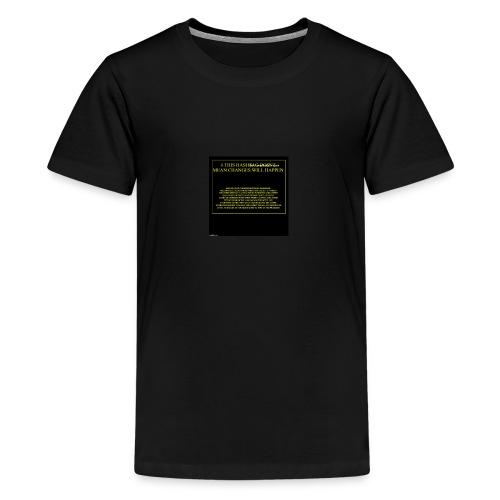 #HASHTAG TO CHANGE OPINIONS - Teenage Premium T-Shirt