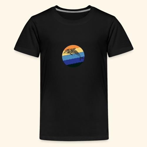 Greek Dolphin Retro - Teenage Premium T-Shirt