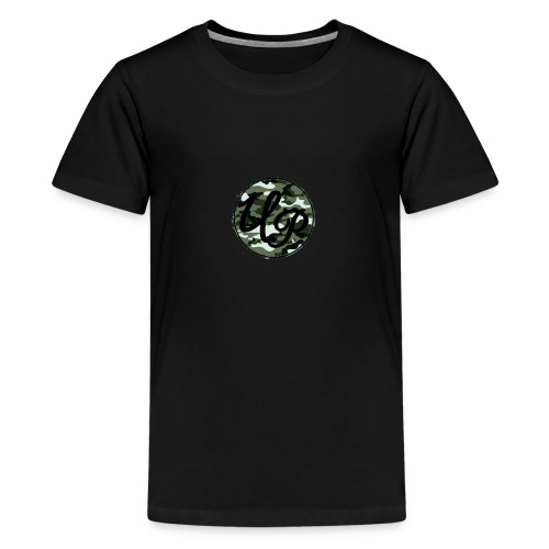 Unique Productions Camo Print - Teenage Premium T-Shirt