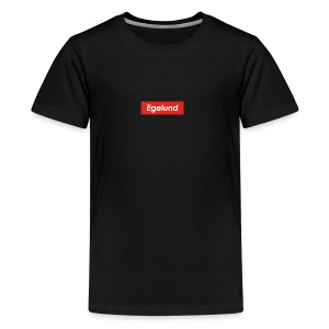 Albert Egelund Box Logo - Teenager premium T-shirt