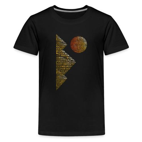 Pyramides hieroglyphic - T-shirt Premium Ado