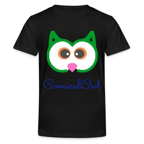 Cartoon Owl - Teenage Premium T-Shirt