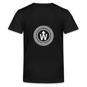 wit logo transparante achtergrond - Teenager Premium T-shirt