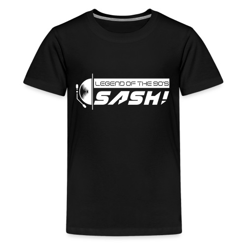 DJ SASH! Turntable Logo - Teenage Premium T-Shirt