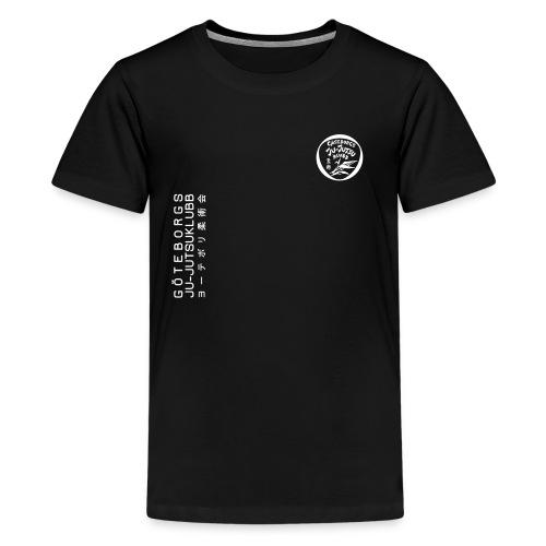 rygg centrerad tshirt hoodjacka troeja - Premium-T-shirt tonåring
