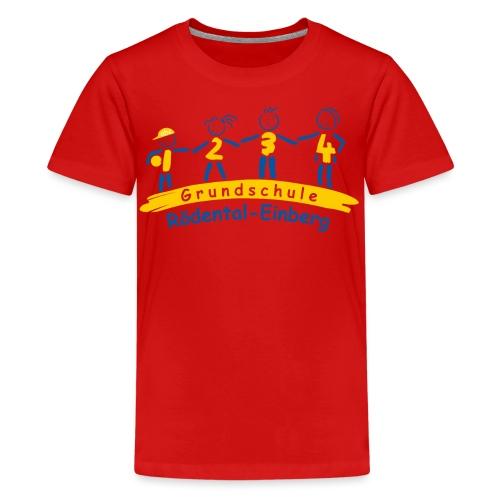VORNE schule logo Kopie png - Teenager Premium T-Shirt