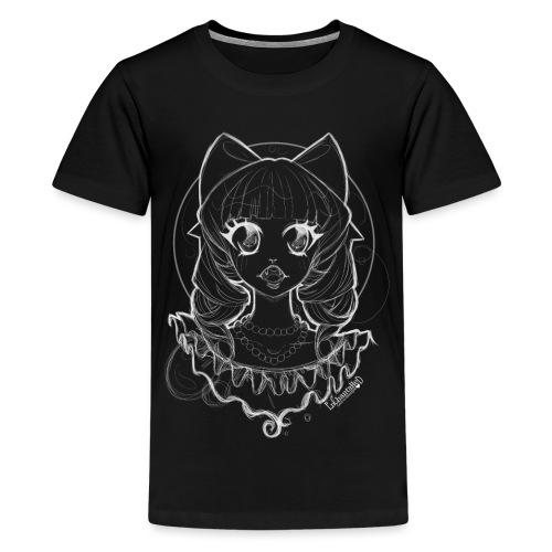 Vampier Lena (witte schets) - Teenage Premium T-Shirt