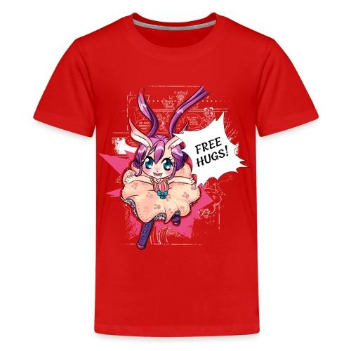 Free hugs (white lines) - Teenage Premium T-Shirt