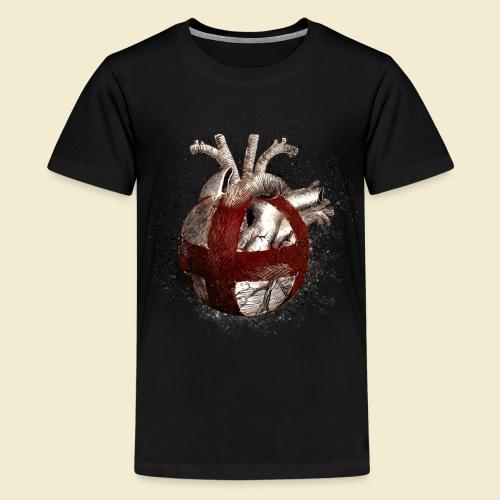 Radball | Cycle Ball Heart - Teenager Premium T-Shirt