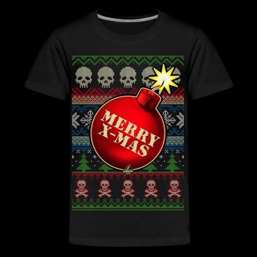 Merry X-Mas Christbaumkugel-Bombe - Teenager Premium T-Shirt
