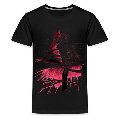 Ein Ort (rot) - Teenager Premium T-Shirt
