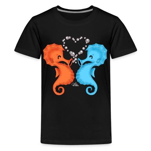 Seepferdchenliebe - Teenager Premium T-Shirt