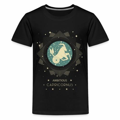 Sternzeichen Ehrgeiziger Steinbock Dezember Januar - Teenager Premium T-Shirt