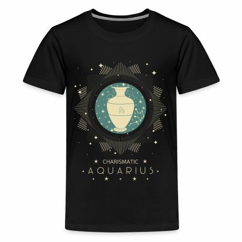 Sternzeichen Wassermann Aquarius Januar Febbruar - Teenager Premium T-Shirt