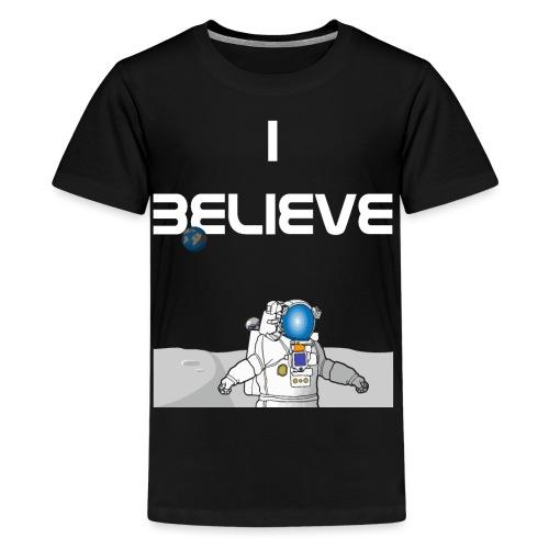 i believe Alien Astronaut Mondlandung - Teenager Premium T-Shirt