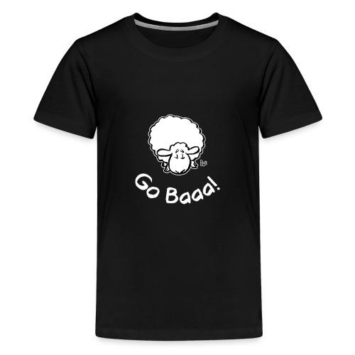 Sheep Go Baaa! (black edition) - Teenage Premium T-Shirt