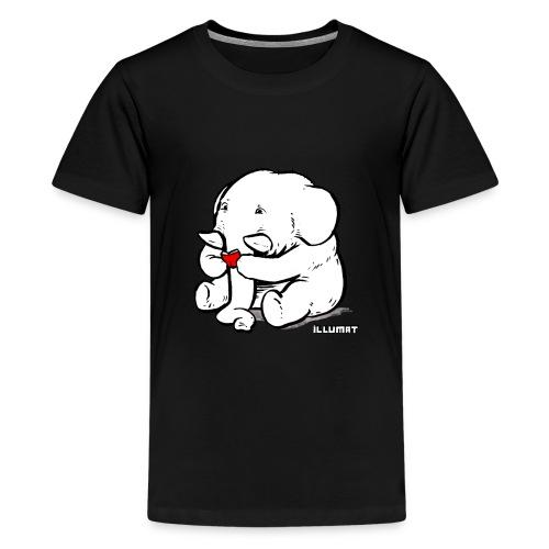 Stef 0002 00 Lesefant - Teenager Premium T-Shirt
