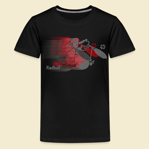 Radball | Earthquake Red - Teenager Premium T-Shirt