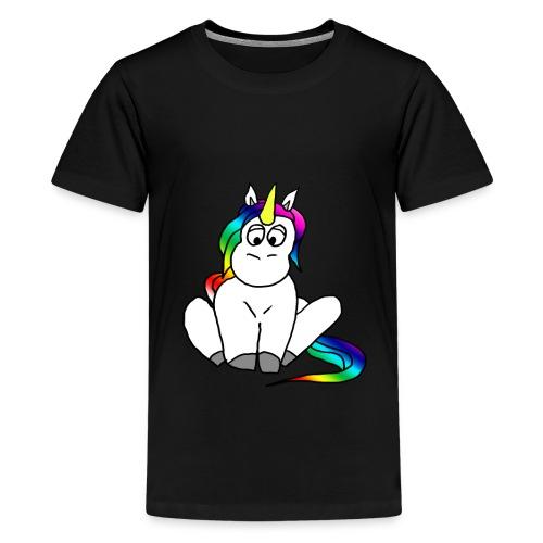 Unicorn Einhorn Pony Regenbogen Fabelwesen - Teenager Premium T-Shirt