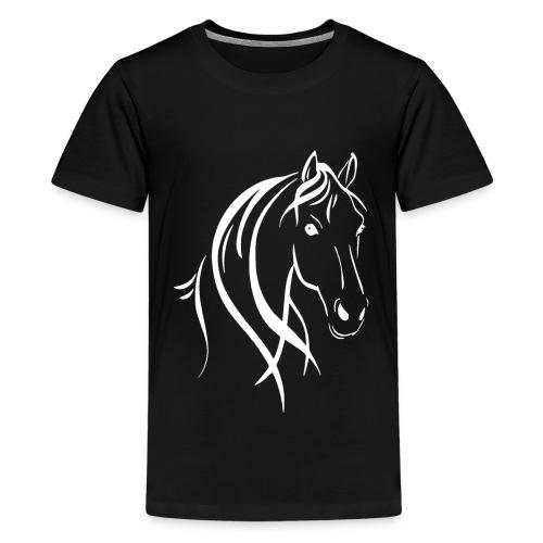 Pferdekopf - Teenager Premium T-Shirt