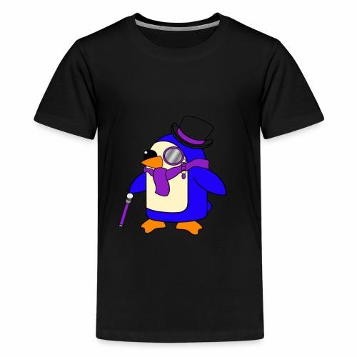 Cute Posh Purple Violet Penguin - Teenage Premium T-Shirt
