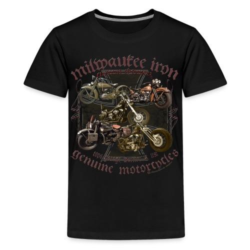 Milwaukee Motorcycles Choppers Biker - Teenager Premium T-Shirt