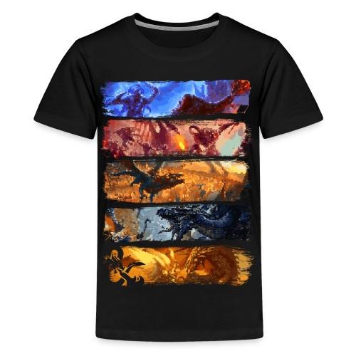 Great Pixel Battle - Dungeons Dragons ja D & D - Teinien premium t-paita