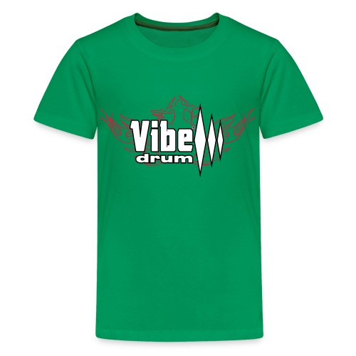 Vibe_Drum_Logo_Flames - Maglietta Premium per ragazzi