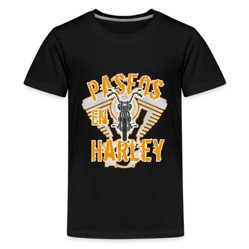 Paseos en H a r l e y - Camiseta premium adolescente