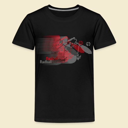 Radball | Earthquake Red - Teenager Premium T-Shirt