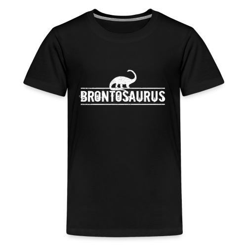 Brontosaurus Dinosaurier Urzeit Geschenk Idee - Teenager Premium T-Shirt