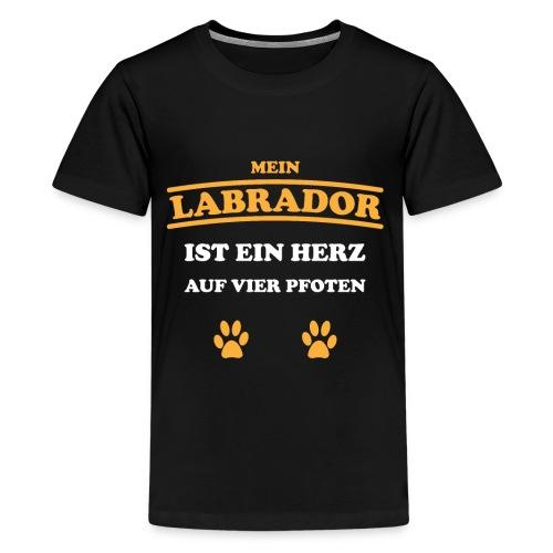 Labrador Hund Pfoten - Teenager Premium T-Shirt