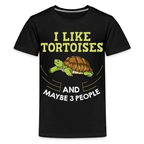 Landschildkröten Schildkröte Afrikanische Sulcata - Teenager Premium T-Shirt