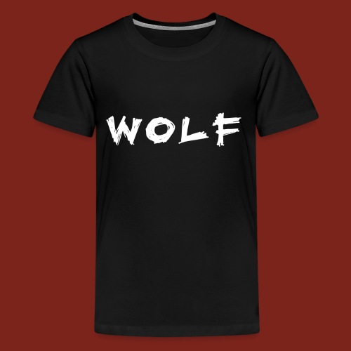 Wolf Font 2 png - Teenager Premium T-shirt