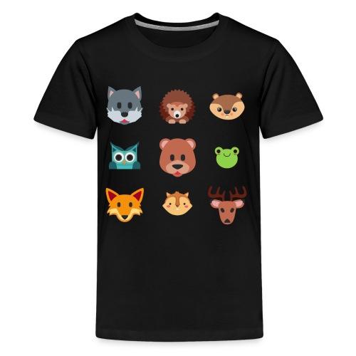 Les animaux de la forêt - T-shirt Premium Ado